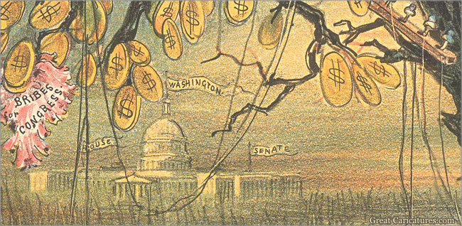 The Deadly Upas Tree of Wall Street (detail) by Joseph Keppler